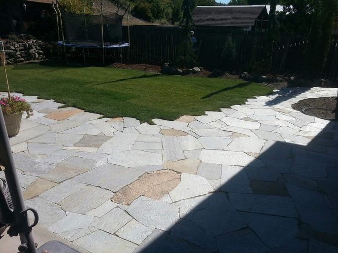 Living Waters Natural Stone Patio