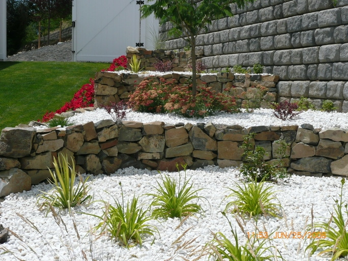 Living Waters Stone wall